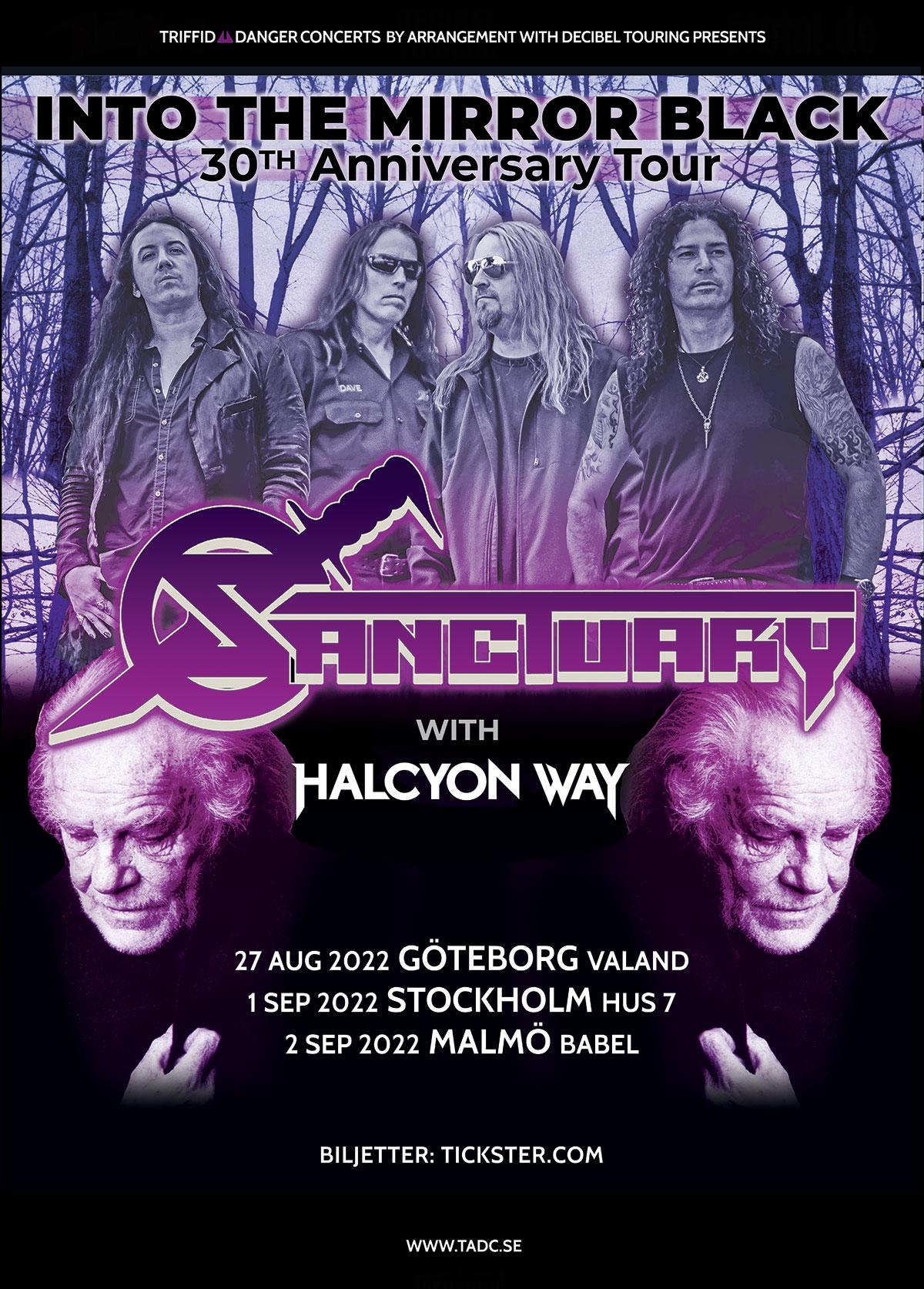 220902 : Sanctuary (US) LIVE – Support: Halcyon Way (US)